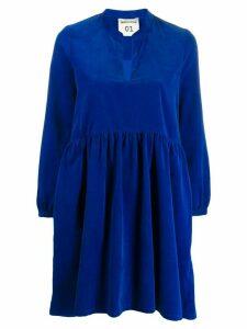 Semicouture long sleeve swing dress - Blue