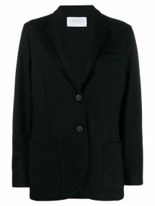 Harris Wharf London long sleeve knitted blazer - Black