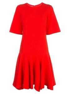 Oscar de la Renta dropped waist dress - Red