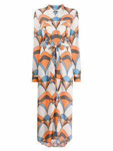 Essentiel Antwerp Troo Troo printed shirt dress - Orange