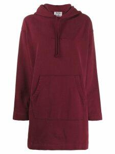 Acne Studios oversized hoodie dress - Red