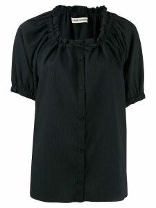 Henrik Vibskov Exhale textured button shirt - Black