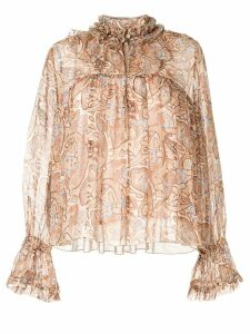 Karen Walker Romanticism blouse - Brown