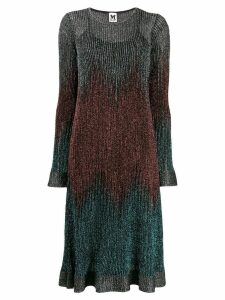 M Missoni ribbed shift shimmer dress - Blue