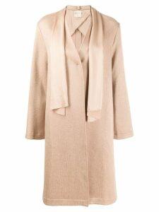 Forte Forte sash single breasted coat - NEUTRALS