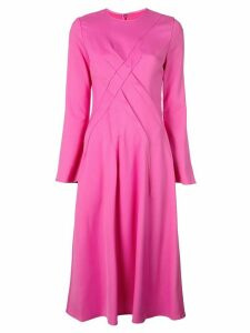 Sies Marjan cross seam midi dress - Pink