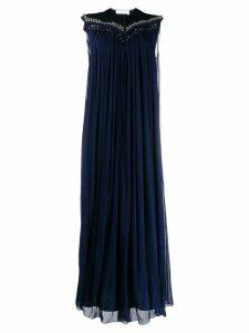 Chloé sleeveless pleated maxi dress - Blue