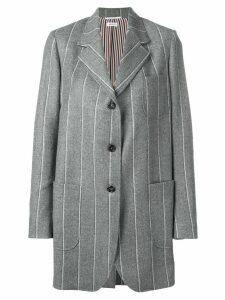 Thom Browne Flannel Shadow Stripe Sack Jacket - Grey