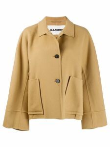 Jil Sander oversized coat - Brown