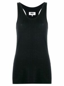 Mm6 Maison Margiela scoop neck tank top - Black