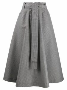 MSGM a-line midi skirt - Grey