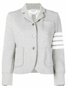 Thom Browne 4-Bar Loop Back Sport Coat - Grey