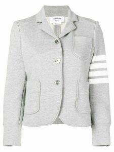 Thom Browne 4-Bar Loop Back Sport Coat - Grey
