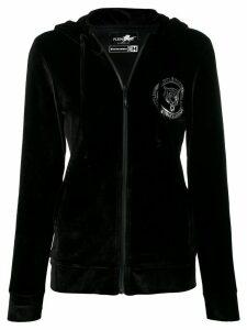 Plein Sport logo stamp zipped sweatshirt - Black