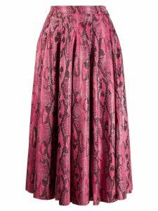 MSGM snakeskin print skirt - Pink