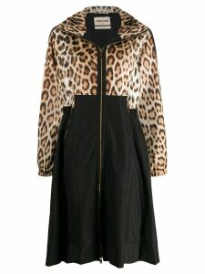 Roberto Cavalli animalier raincoat - Brown
