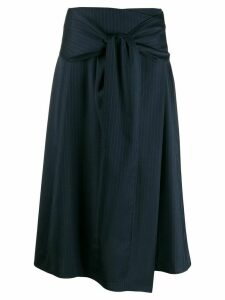 Joseph striped A-line skirt - Blue