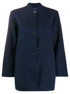 Raquel Allegra jacquard buttoned blazer - Blue