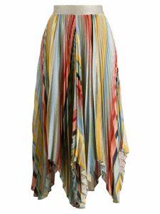 Missoni pleated asymmetric skirt - Blue