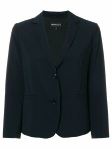 Emporio Armani cropped tailored blazer - Blue