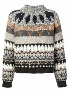Stella McCartney festive-knit jumper - Grey