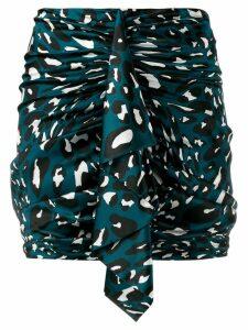 Alexandre Vauthier draped detail mini skirt - Blue