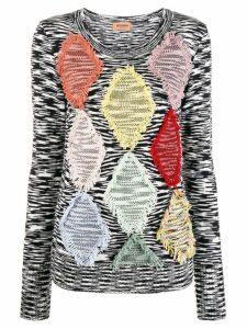 Missoni diamond pattern jumper - Black