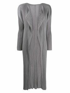 Pleats Please Issey Miyake Lungo Con Tasche coat - Grey