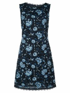 Alice+Olivia lace floral fitted dress - Black