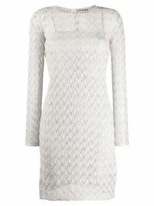 Missoni open knit dress - Neutrals