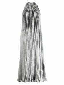 Missoni pleated midi dress - Silver