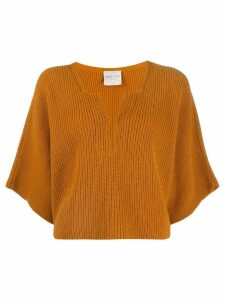 Forte Forte ribbed cropped jumper - Orange