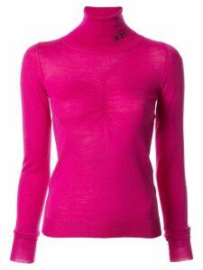 Nº21 logo roll neck jumper - Pink