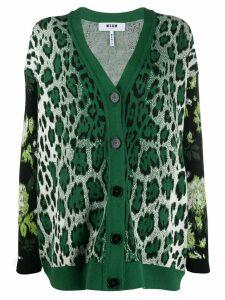 MSGM oversized cardigan - Green