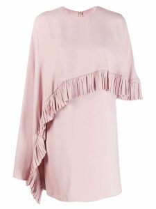 Valentino ruched drape panelled dress - Pink