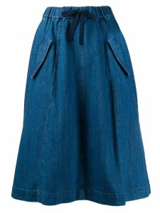 Closed drawstring waist skirt - Blue