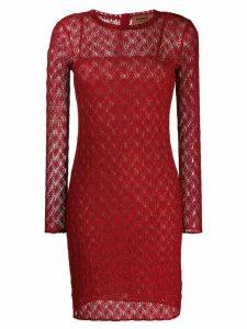 Missoni fine knit dress - Red