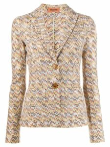 Missoni zigzag pattern blazer - Neutrals