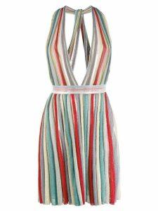 Missoni deep V-neck dress - Red
