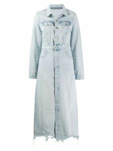 Alexander Wang long length denim coat - Blue