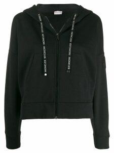 Moncler zip up hoodie - Black
