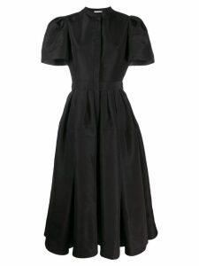 Alexander McQueen ruffled shoulder midi dress - Black