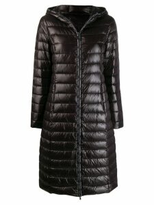Patrizia Pepe padded hooded coat - Black