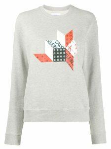Calvin Klein Jeans logo sweatshirt - Grey