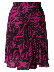 Nº21 zebra gathered mini skirt - Pink