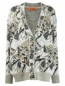 Missoni all-over pattern cardigan - Grey