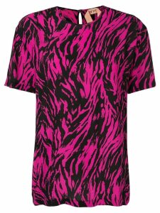 Nº21 zebra patterned T-shirt - Pink
