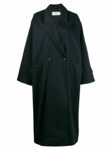 Closed oversized coat - Blue