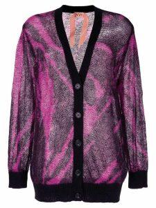Nº21 tie-dye effect cardigan - Pink