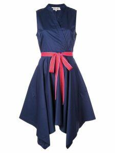 Diane von Furstenberg asymmetric hem shirt dress - Blue